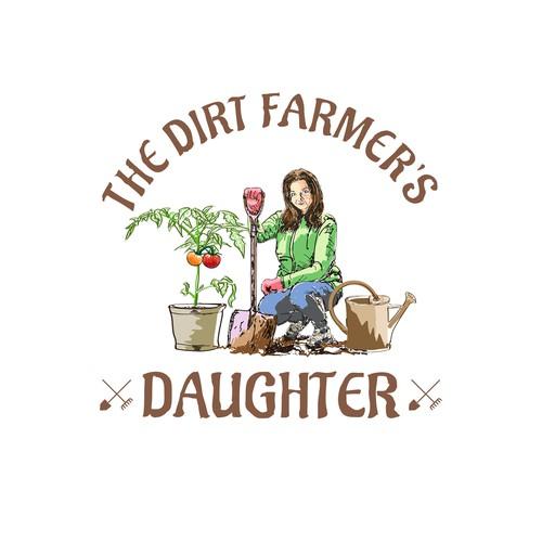Design an earthy, environmental logo for a new age farm girl