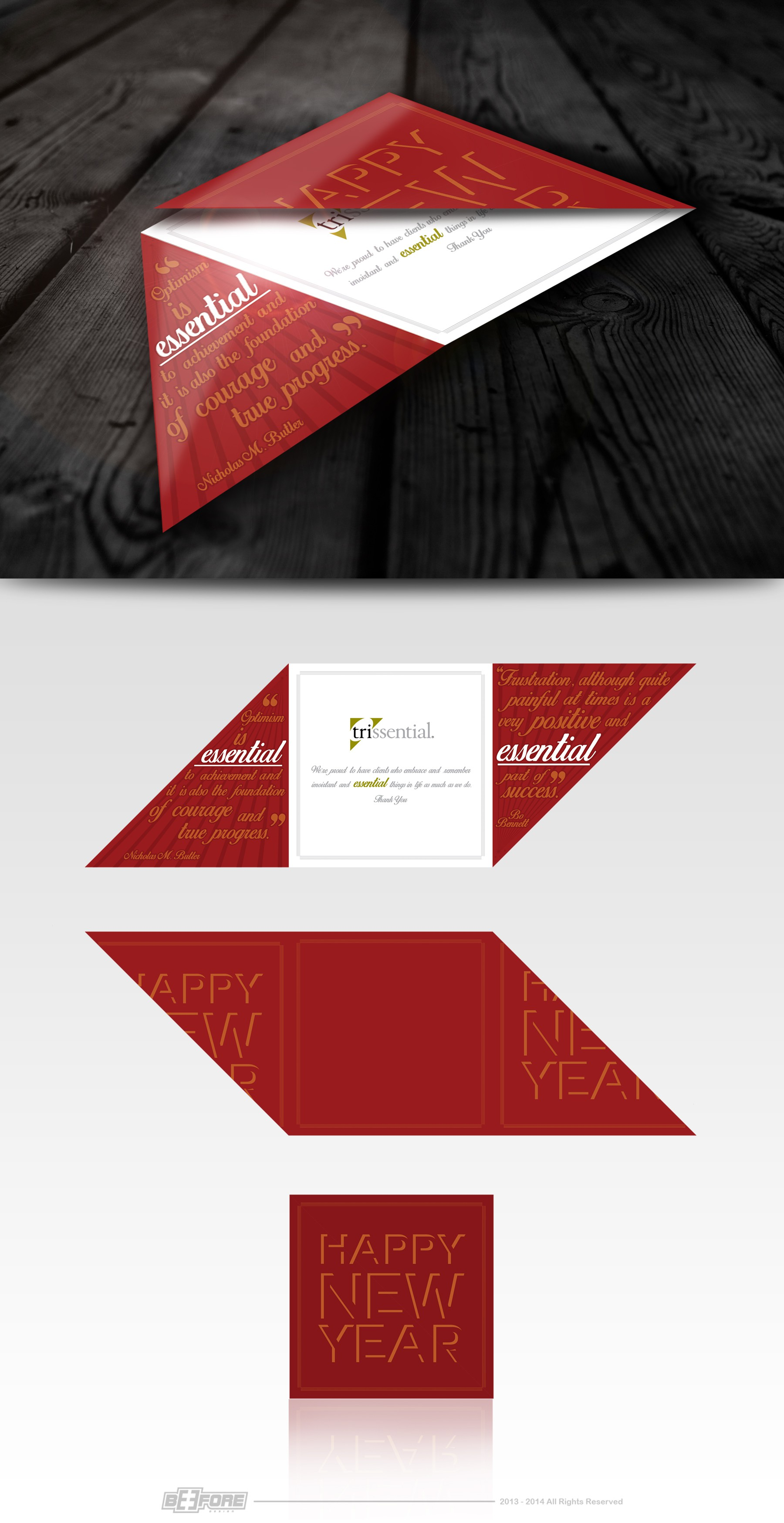 Trissential Holiday Card Design