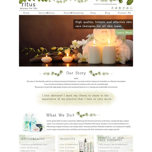 New Website for skincare company - wordpress backend