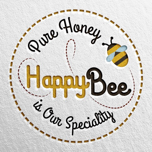 Trying make people happy, Logo for Honey Company.
