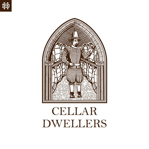 Illustrated logo for an online wine retailer