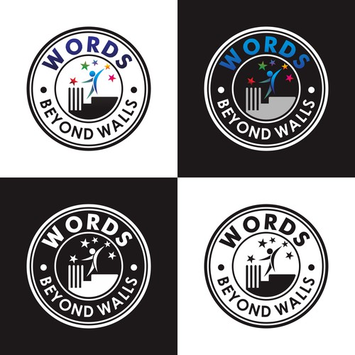 "Bold logo concept for ""WORDS BEYOND WALLS"""