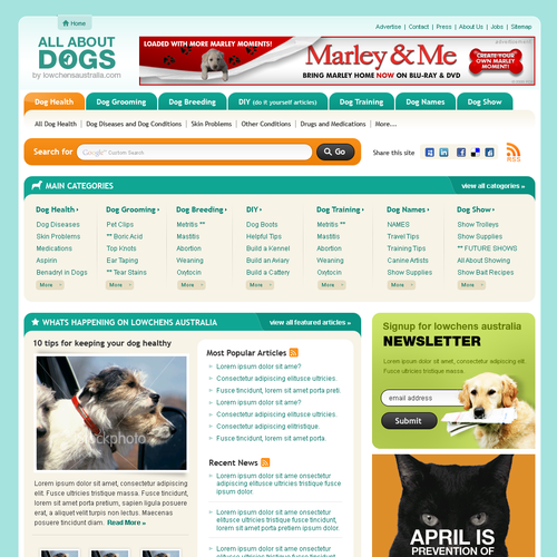 WANTED: Creative & Talented Designers for Dog website redesign