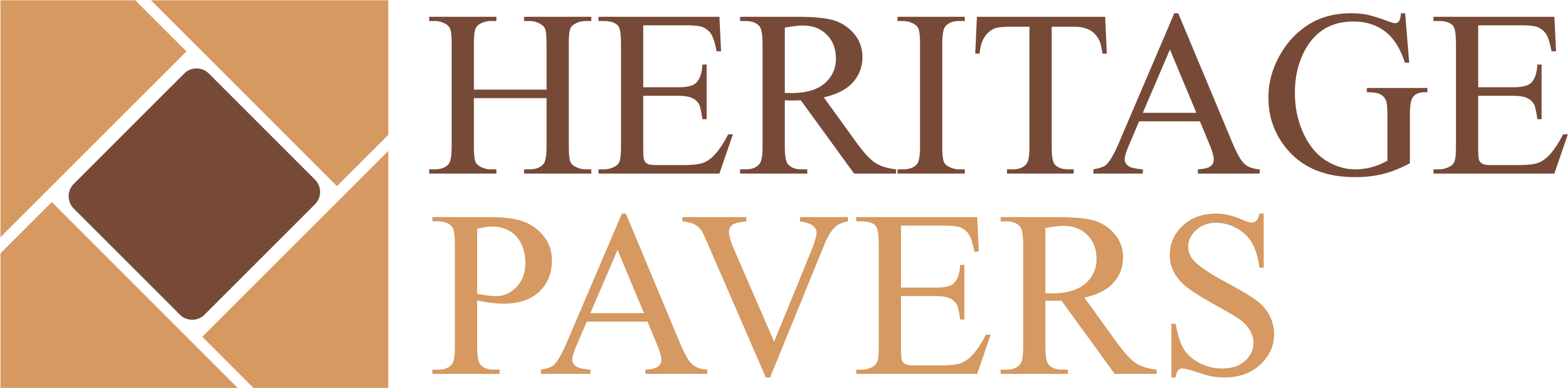 Design a simple, classic logo for Heritage Pavers