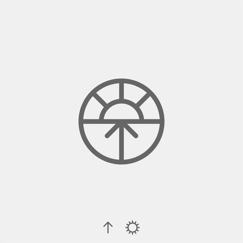 minimalist logo for Up for Sunrise