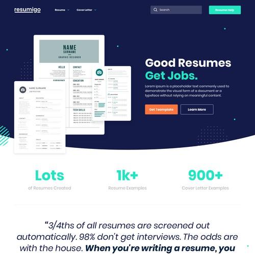 Resume Landing Page