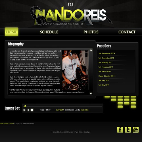 Help Dj Nando Reis with a new website design