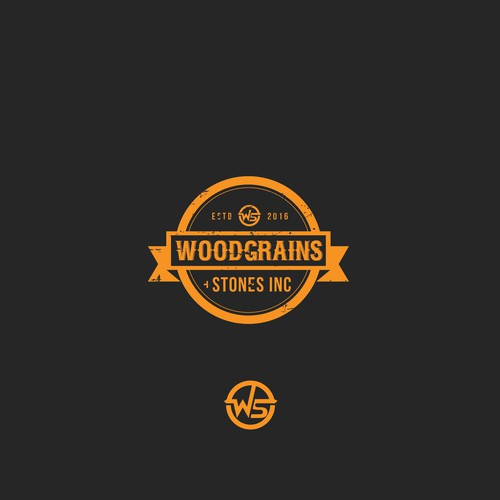 Vintage logo style For WOODGRAINS + STONE INC