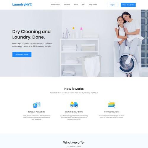 Laundry NYC website design
