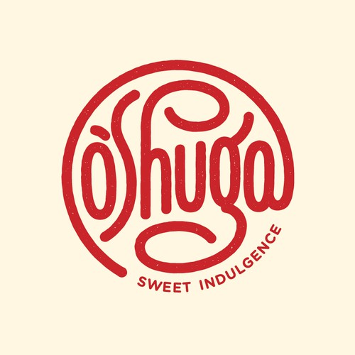 Hand lettering logo for an online dessert shop
