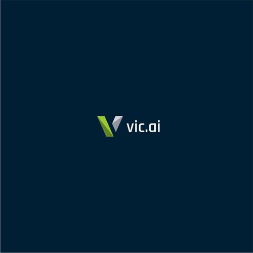 Geometric letter V