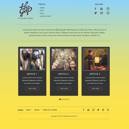 TheGap Website Design