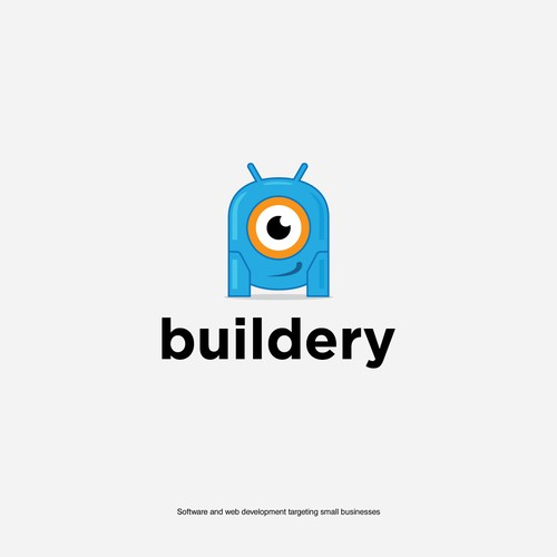 Robot logo for software and web development
