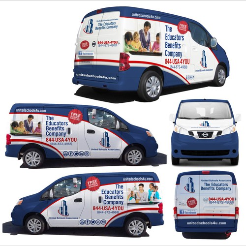 Nissan NV200 Van Wrap contest For United Schools Associates, (USA) Inc.