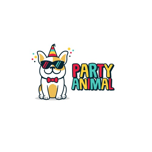 Party Animal logo concept