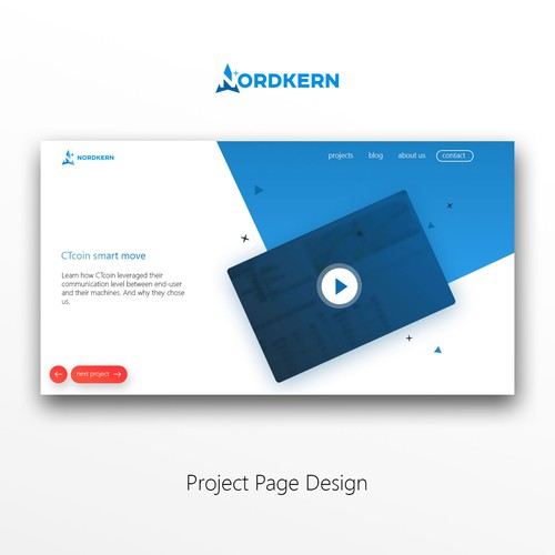 Nordkern Homepage design