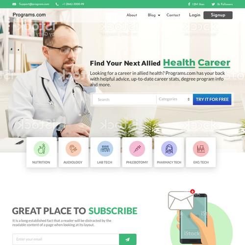 Health Career Websiet