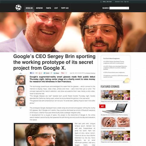Magazine Site Design