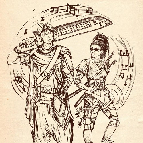 Two Samurai characters for music video