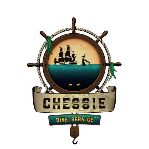 Sea Monster Logo for Dive Service