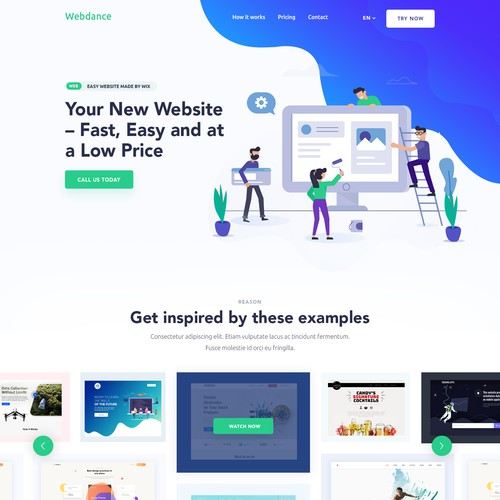 """Website design for """"Webdance"""""""