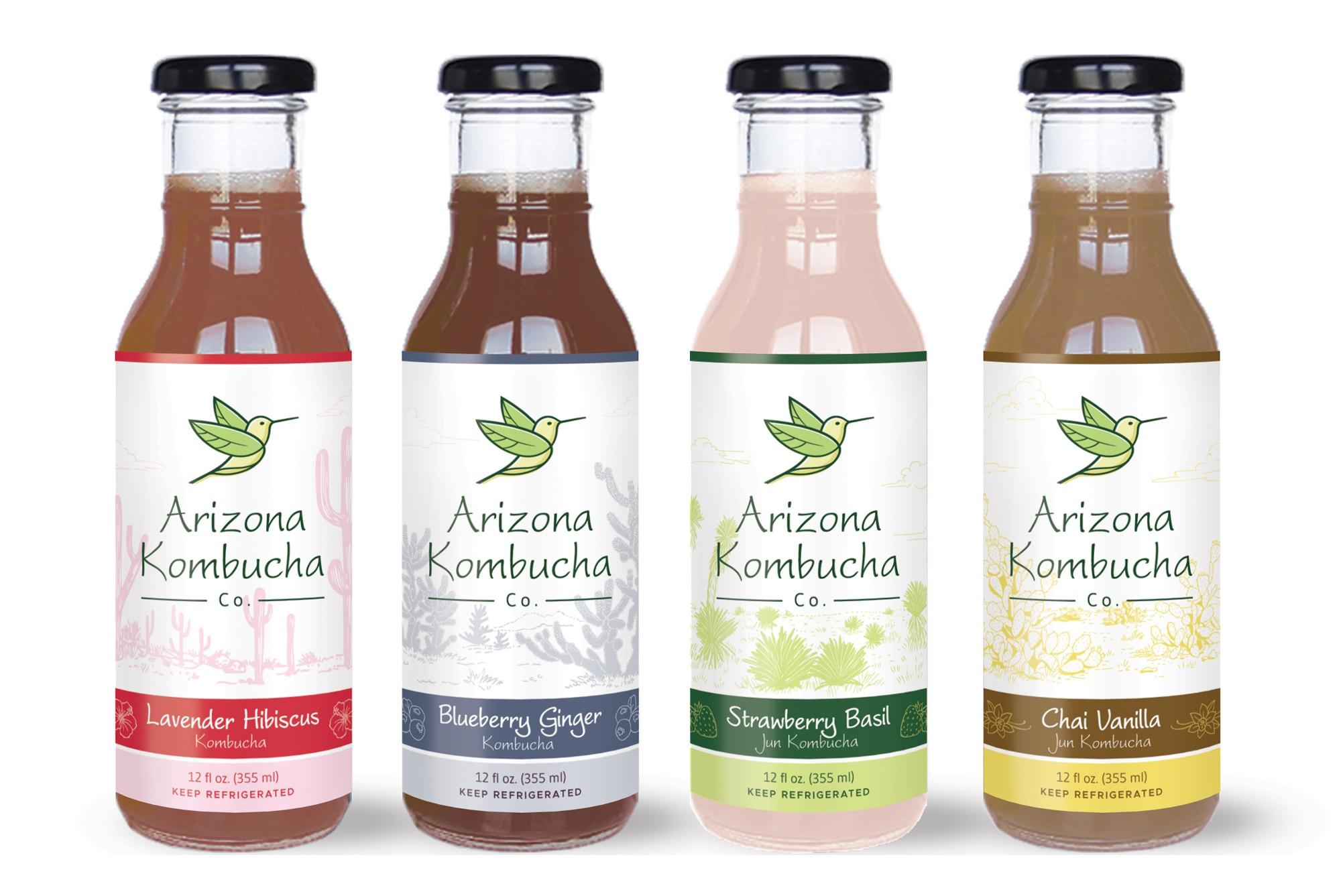 Label design for Arizona Kombucha Company