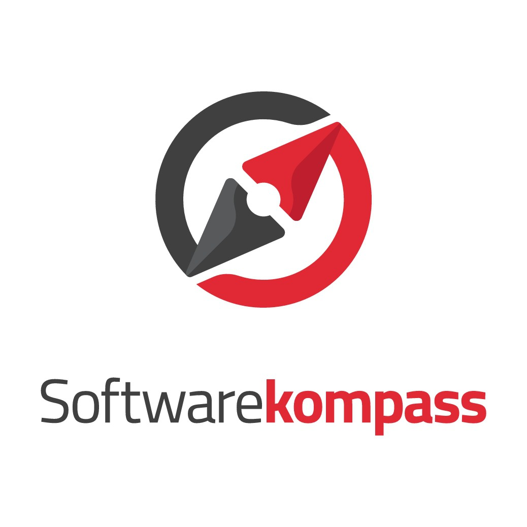 Clean, crisp and compact logo for Softwarekompass; a modern web app which helps entrepreneurs to find the right software