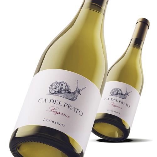 Ca Del Prato Italian wine label.