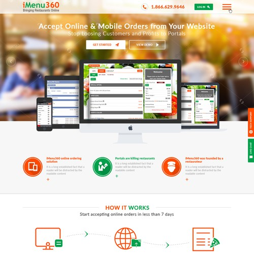 iMenu 360 Website Redesign