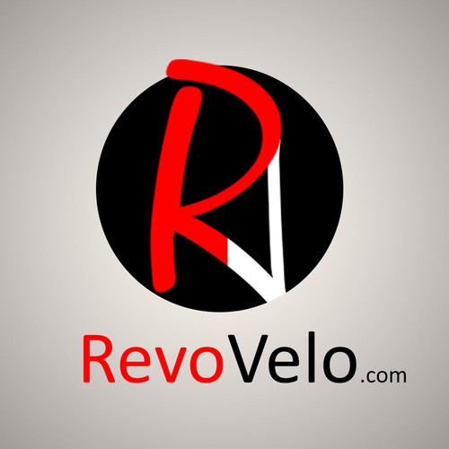 Create a simple, fun RevoVelo.com logo for bicycle industry that makes you smile and share