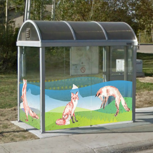 Design a summer graphic wrap for bus shelters in Northern Alberta!