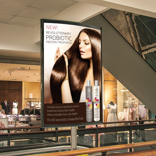 Onesta Hair Care New Product Poster