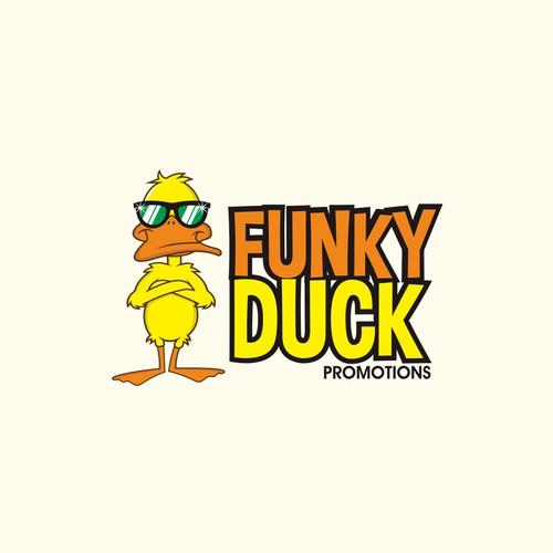 Funky Duck concept logo design