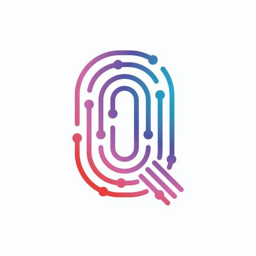Q + Smile Logo Concept #2