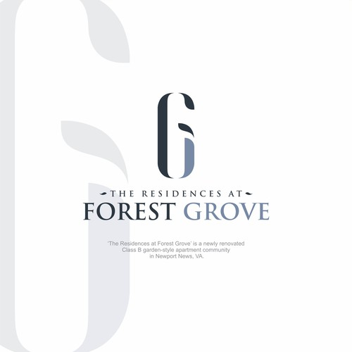 'The Residences at Forest Grove' Logo Design