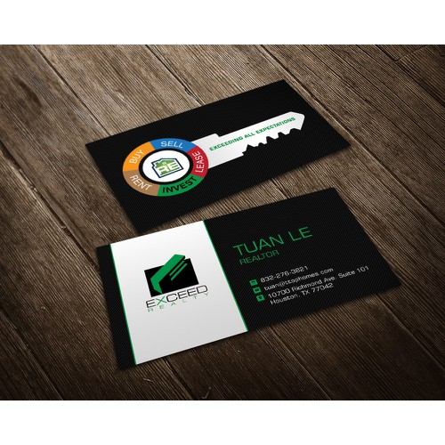 Bold Design of Realtor Business Card