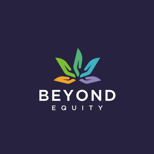 Fun Colorfull Logo Design with a Clever Twist for Beyond Equity