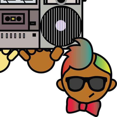 Improve this DJ emblem / illustration