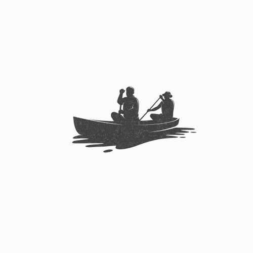 Hawaiian Themed Logo Expressing Unity incorporating a two person outrigger canoe