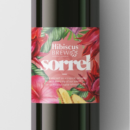 """The traditional Caribbean drink """"Sorrel"""""""