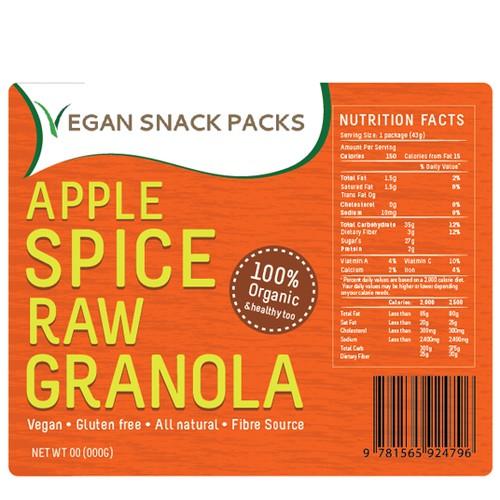 Delicious Healthy Vegan Snack Labels