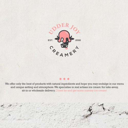 Logo  concept for creamery