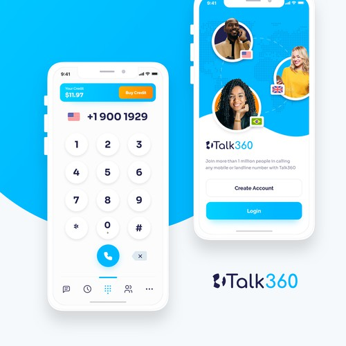 App Design Concept for Talk360