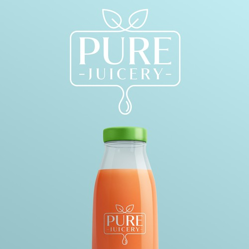 Logo for a healthy juice company