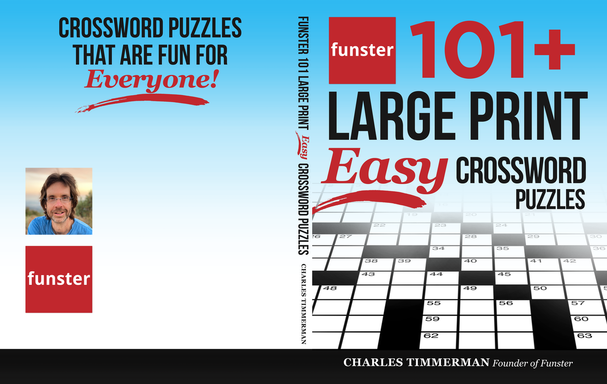 Design a friendly crossword puzzle book cover for a best-selling author