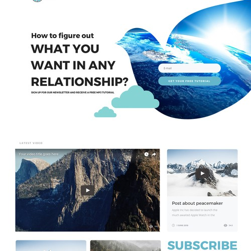 One page website landing page