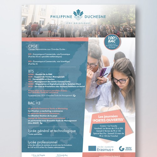 Flyer for a School
