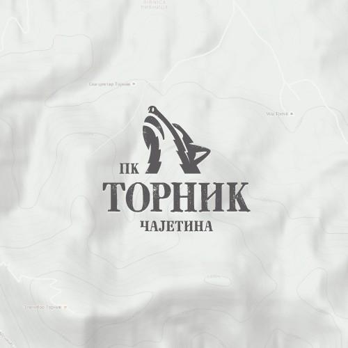 Bold outdoor logo with wild spirit