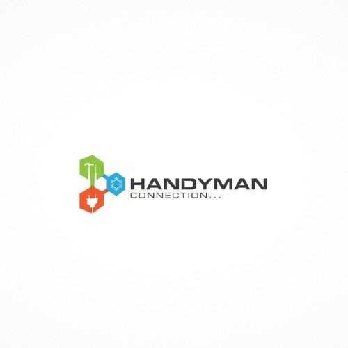 Geometric logo for Handymen Connection
