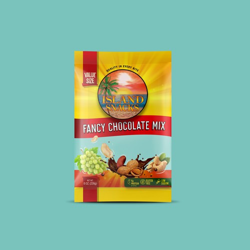 Island Snacks Fancy Chocolate Mix Packaging